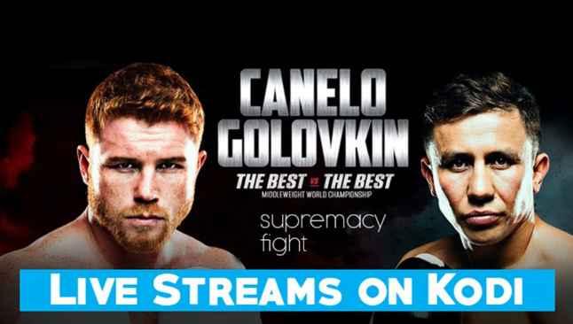 Watch Canelo vs Golovkin 2 on kodi